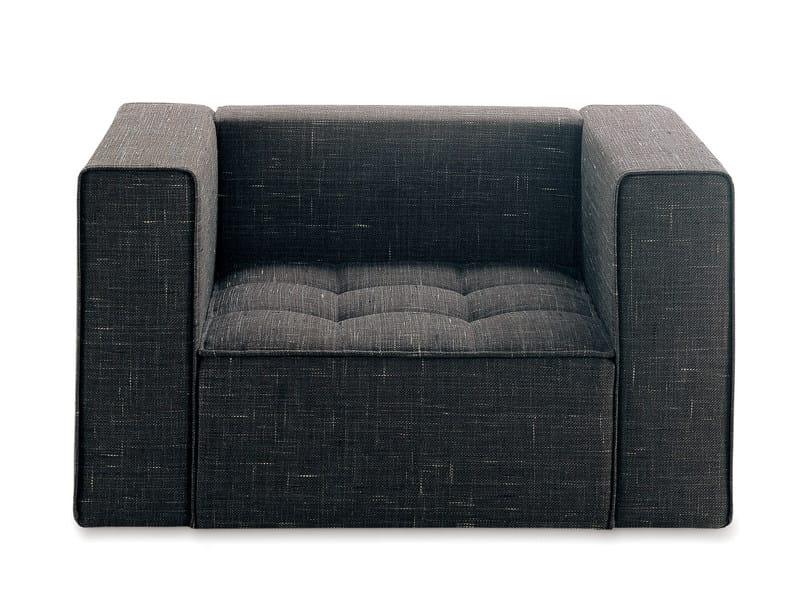 Upholstered armchair KILT | Armchair by Zanotta