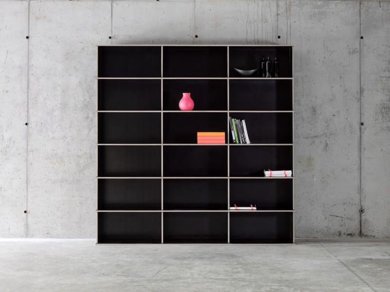 Modular multi-layer wood bookcase J.M.B./3.6 by FIORONI
