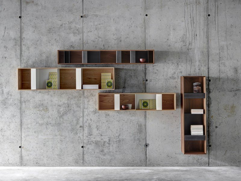 Steel and wood wall cabinet T BOX by FIORONI