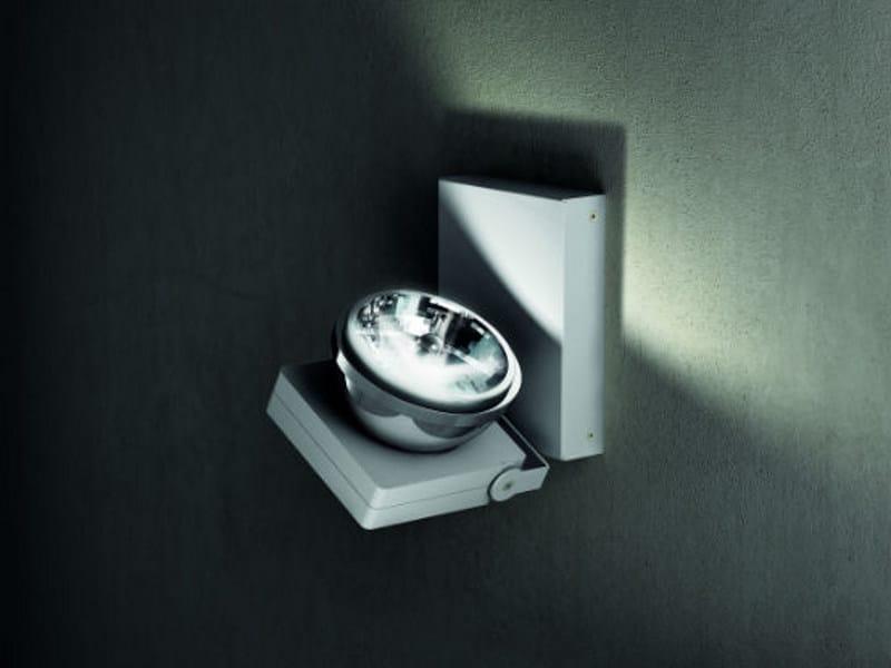 Wall-mounted adjustable aluminium spotlight NOTTA AP 1 by Vetreria Vistosi