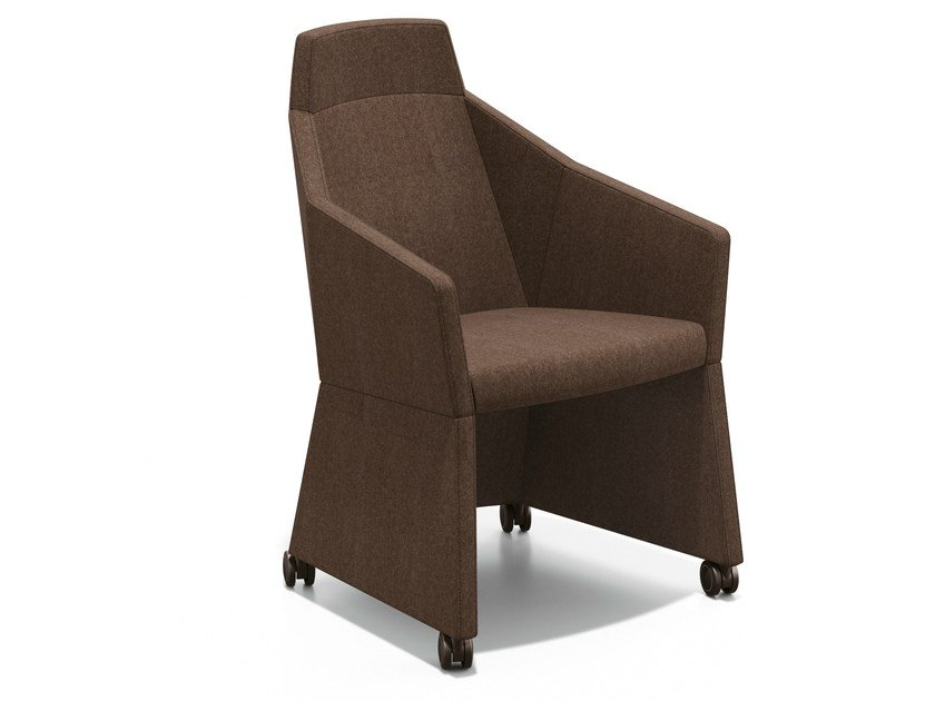 Fabric easy chair with casters PARKER I | Easy chair with casters by Casala
