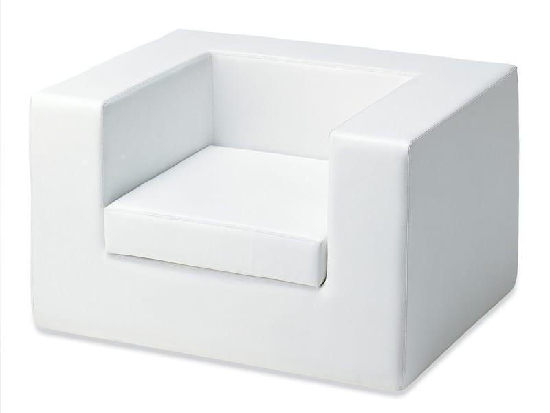 Upholstered armchair THROW-AWAY | Armchair by Zanotta