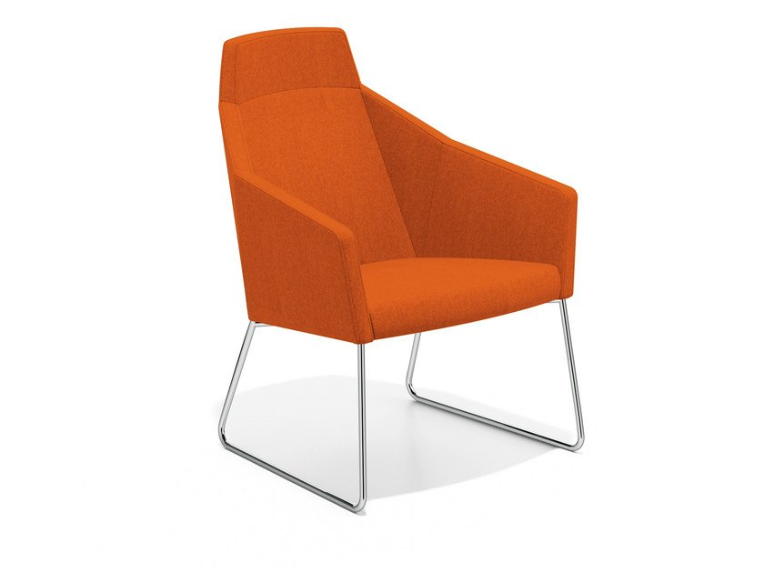 Sled base easy chair high-back PARKER III | Sled base easy chair by Casala