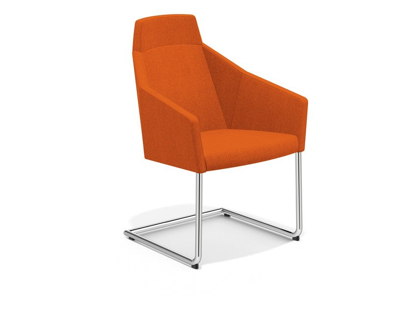 Cantilever easy chair high-back PARKER III | Cantilever easy chair by Casala