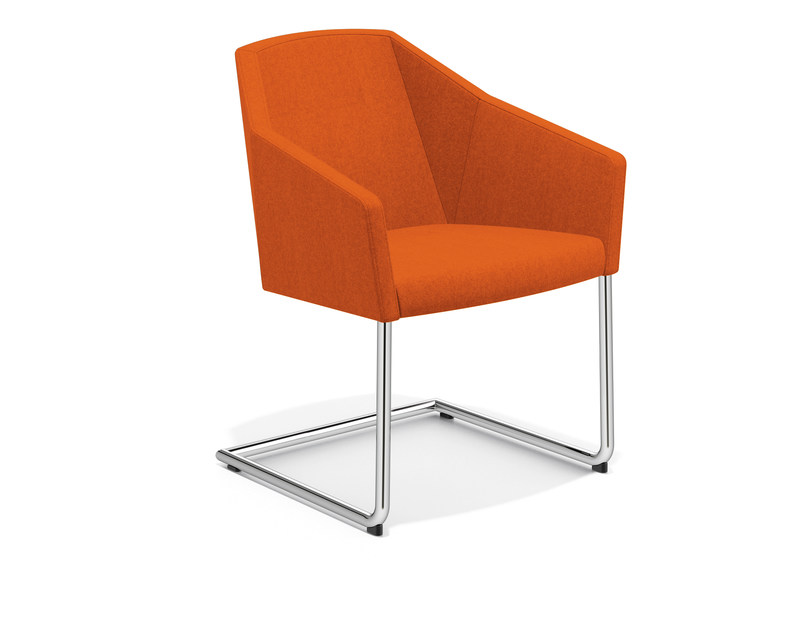 Cantilever fabric easy chair PARKER III | Cantilever easy chair by Casala