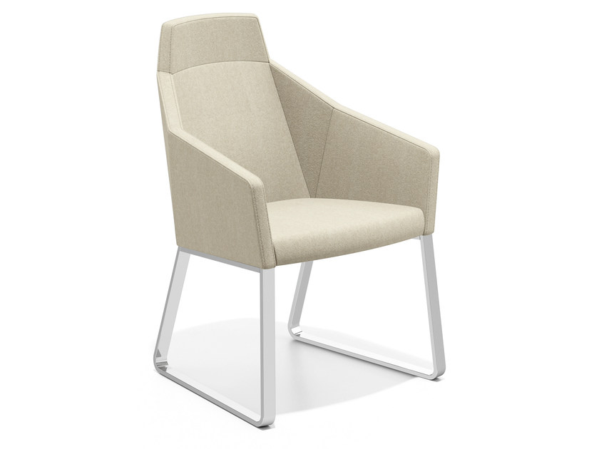 Sled base easy chair high-back PARKER IV | Sled base easy chair by Casala