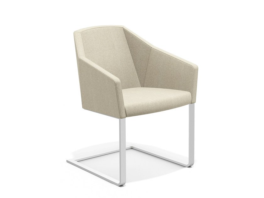 Cantilever fabric easy chair PARKER IV | Cantilever easy chair by Casala