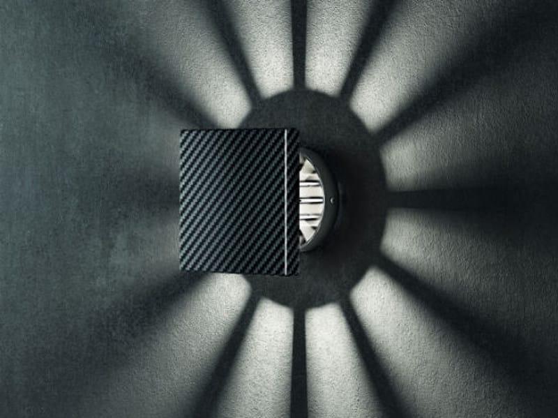 Carbon fibre wall light RAY AP by Vetreria Vistosi