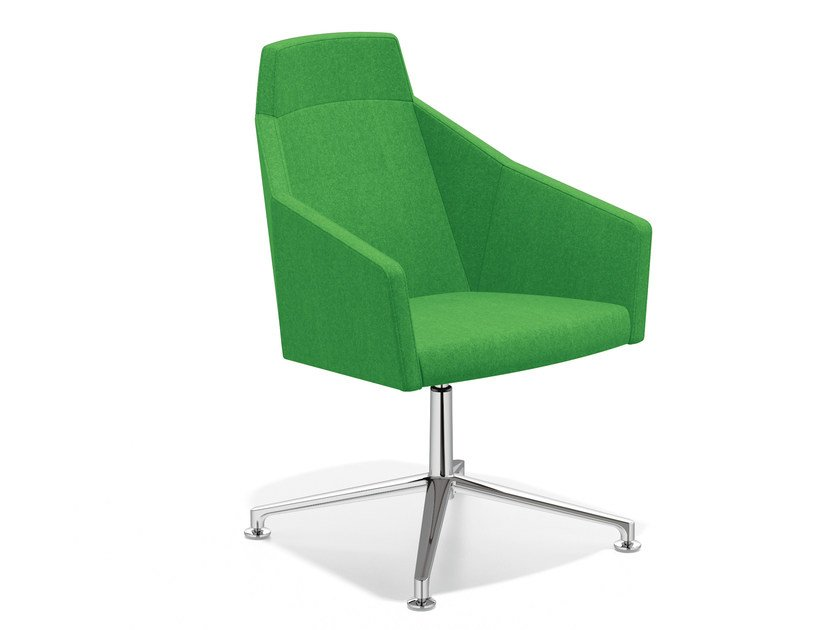 Easy chair with 4-spoke base high-back PARKER VI | Easy chair with 4-spoke base by Casala