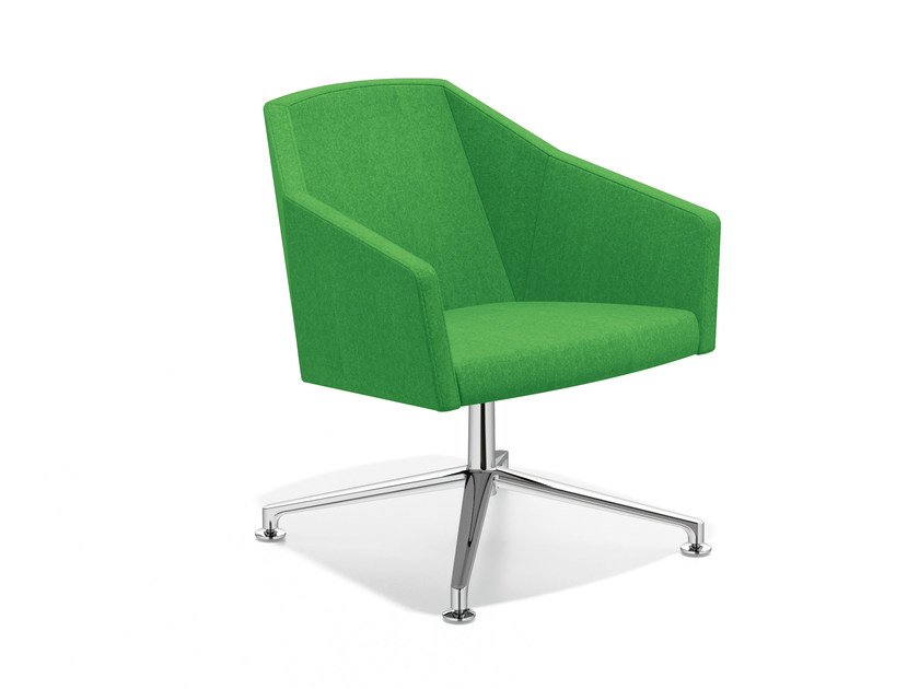 Swivel easy chair with 4-spoke base PARKER VI | Easy chair with 4-spoke base by Casala