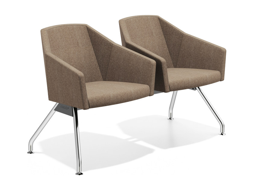 Beam seating with armrests PARKER TRAVERSE | Beam seating by Casala
