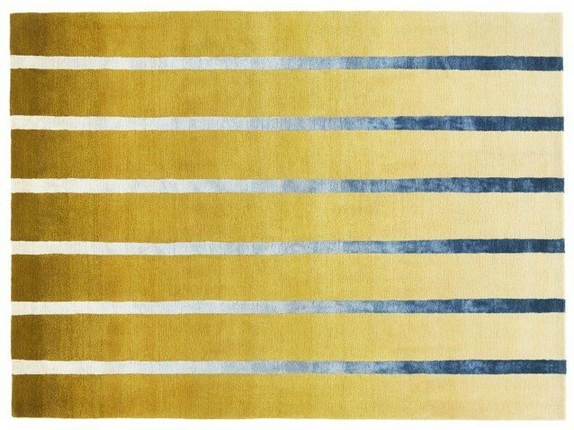 Handmade striped custom rug DAWN by Deirdre Dyson