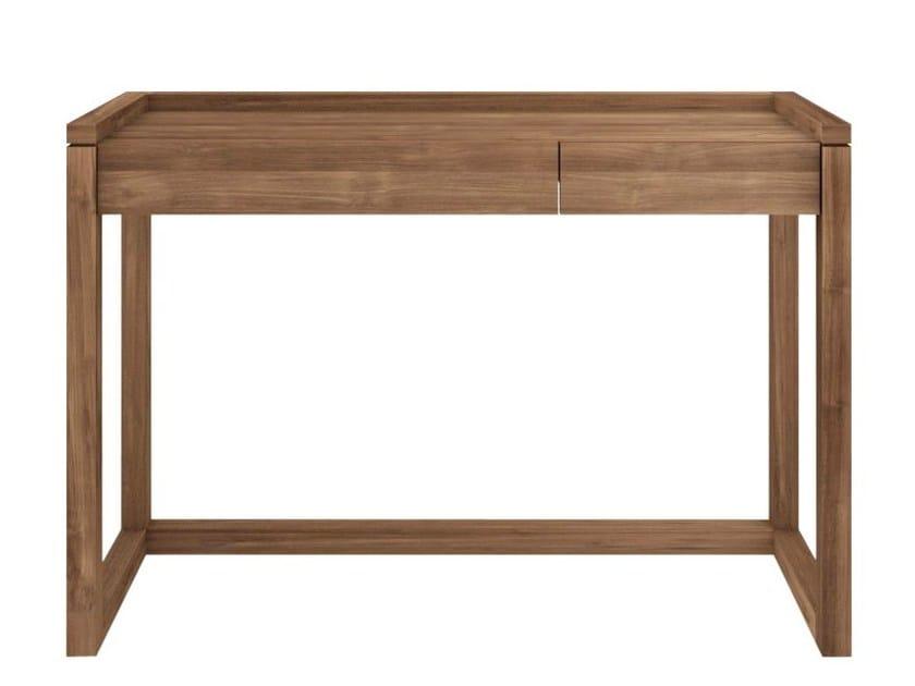 Rectangular teak writing desk with drawers TEAK FRAME   Writing desk by Ethnicraft