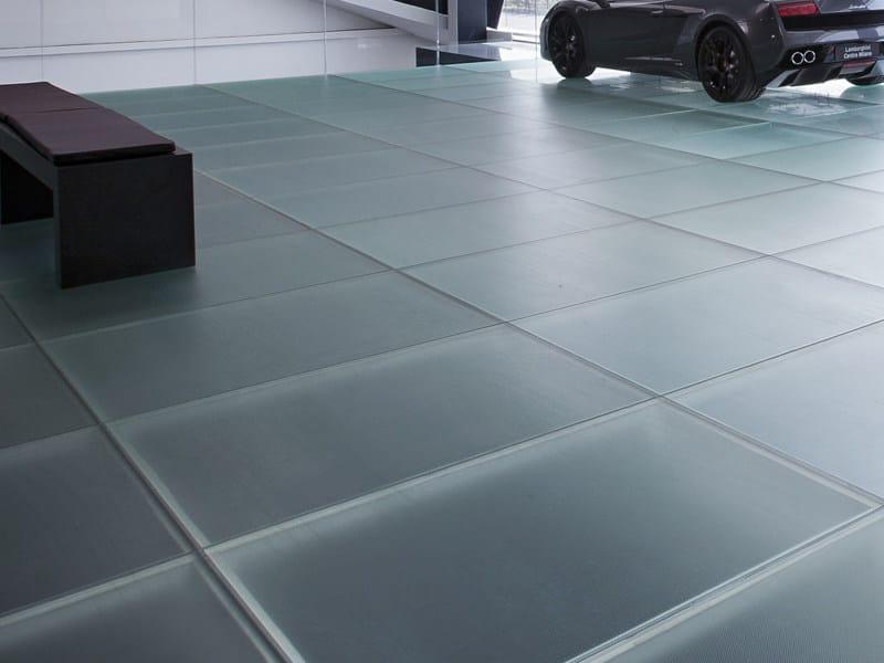 Anti-slip glass MADRAS® PIXEL FLOORING by Vitrealspecchi