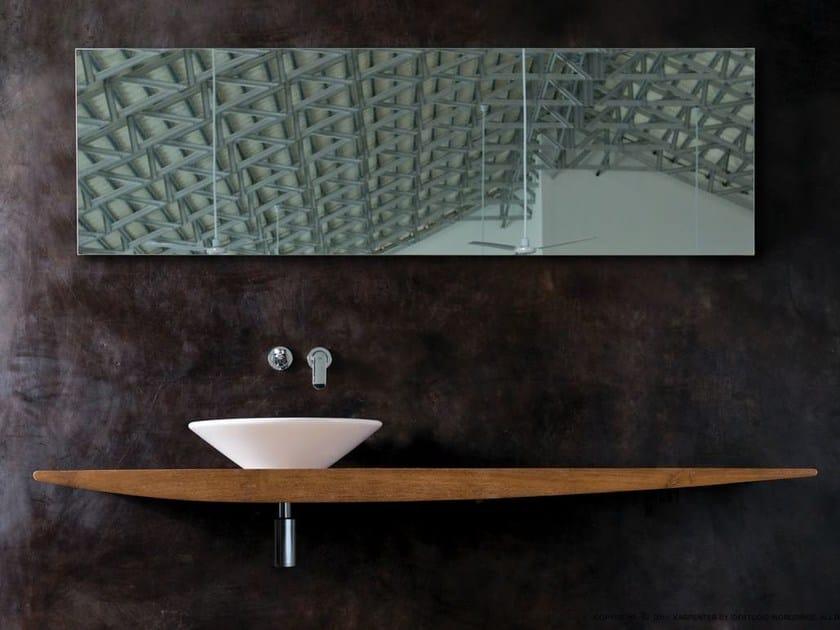Single wooden washbasin countertop DIZZIE | Single washbasin countertop by KARPENTER