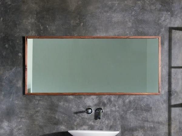 Rectangular wall-mounted framed mirror DUKE | Bathroom mirror by KARPENTER