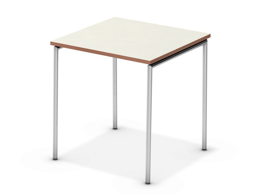 Lacquered square meeting table TAVO FIX | Square meeting table by Casala