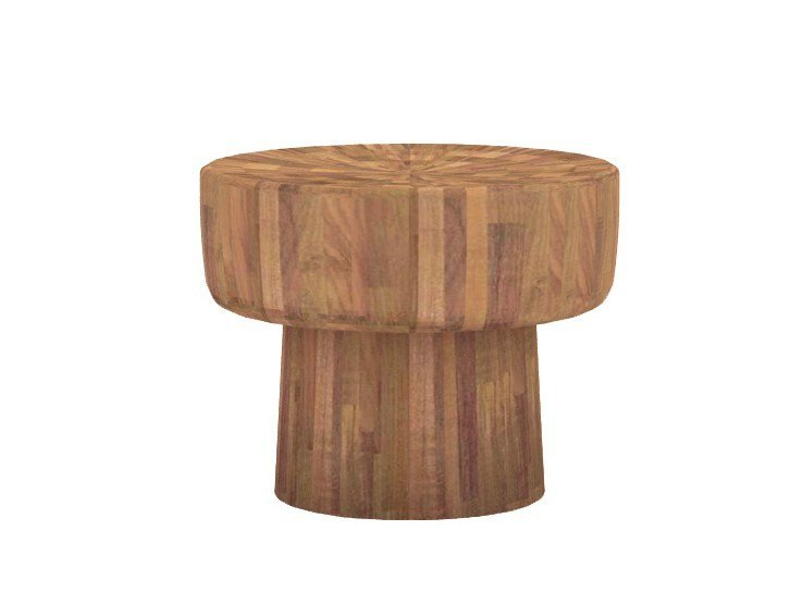 Round teak coffee table TEAK POP | Round coffee table by Ethnicraft