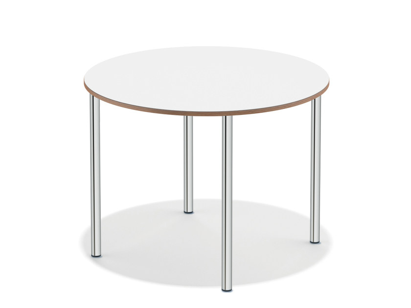 Lacquered round meeting table WISHBONE I | Round meeting table by Casala