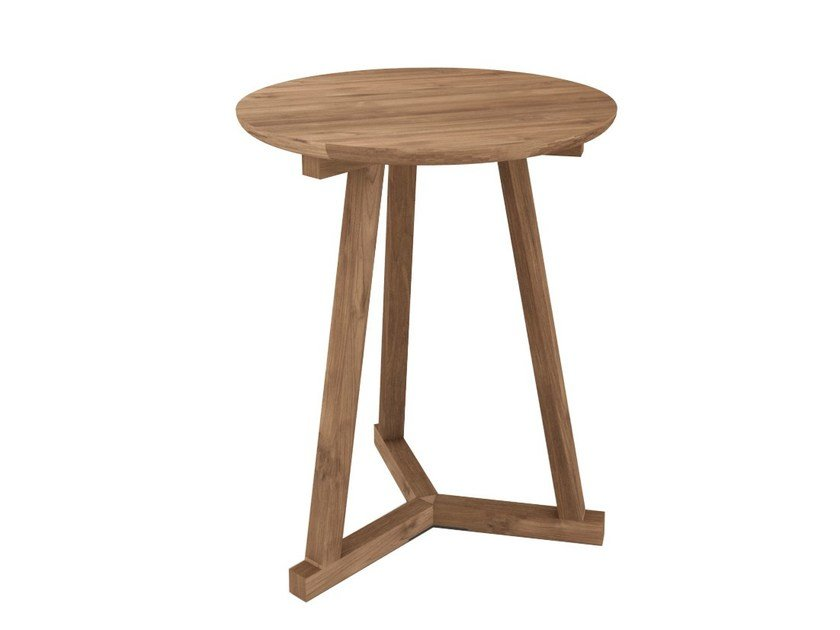 Round teak coffee table TEAK TRIPOD | Coffee table by Ethnicraft