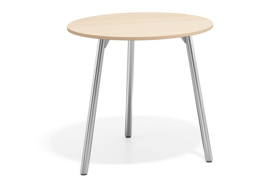 Round wooden table WISHBONE III | Round table by Casala