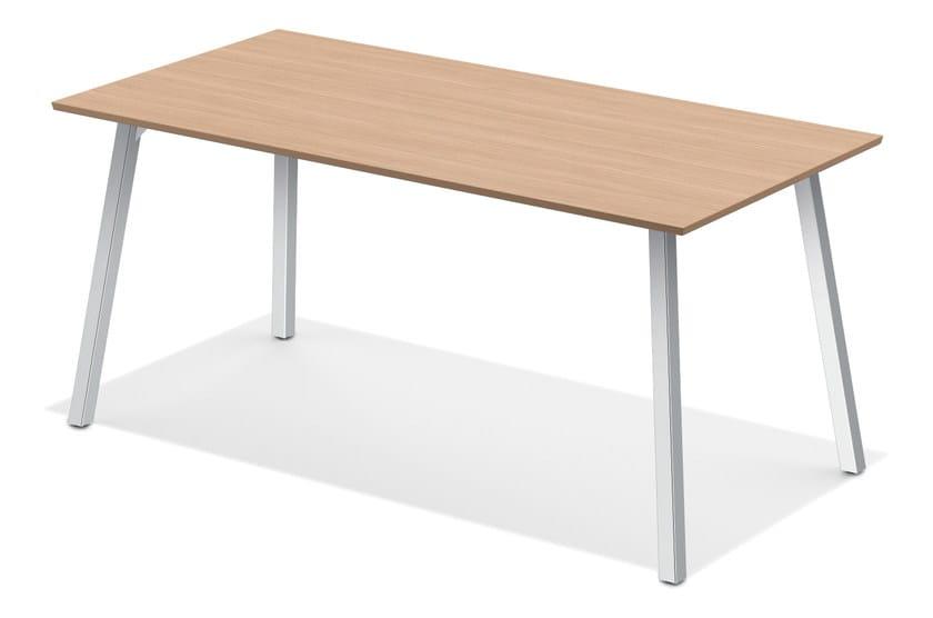 Rectangular meeting table WISHBONE III | Meeting table by Casala