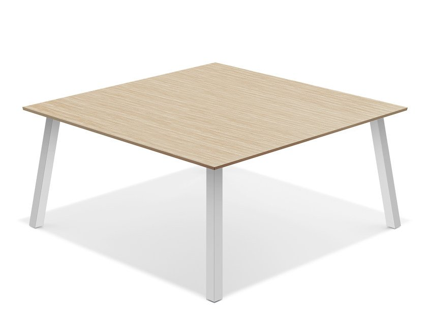 Square wooden meeting table WISHBONE IV | Square meeting table by Casala
