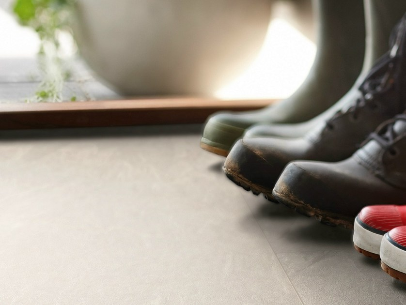 Laminate flooring with stone effect ALPACA SLATE by Pergo