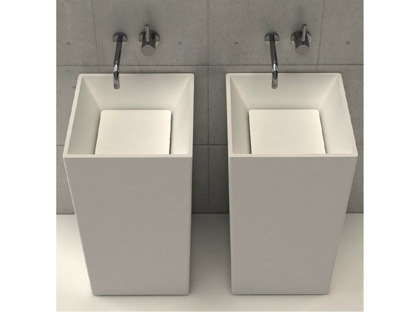 Freestanding square washbasin PLATINUM TOWER by DIMASI BATHROOM