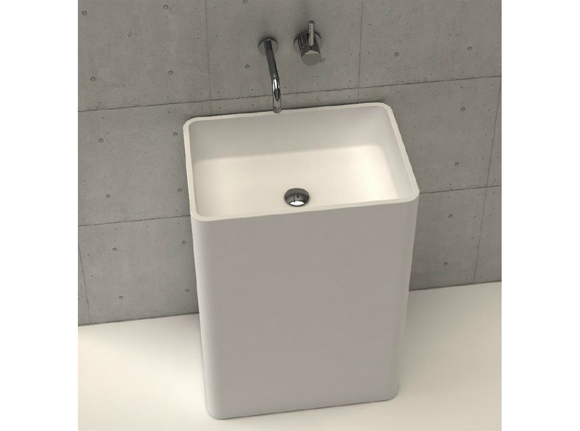 Freestanding rectangular washbasin REGULAR TOWER by DIMASI BATHROOM