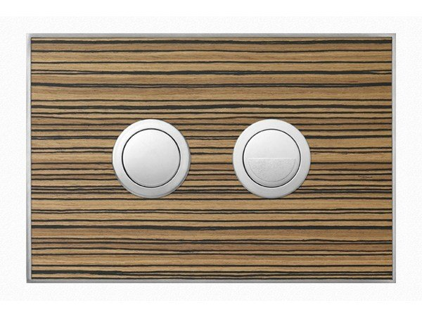 Flush plate WOOD ZEBRANO SATIN by Valsir