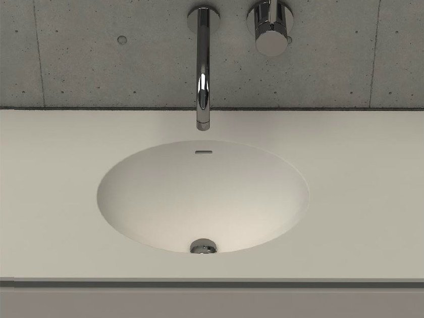 Inset oval washbasin with integrated countertop ELI TOP by DIMASI BATHROOM