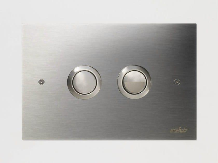 Stainless steel flush plate VALSIR VS0870737 by Valsir