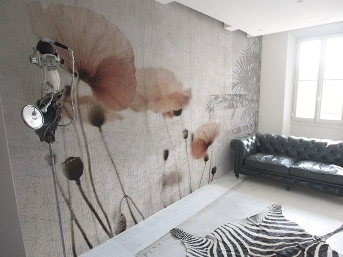 Vinyl wallpaper with floral pattern ASHITA by GLAMORA
