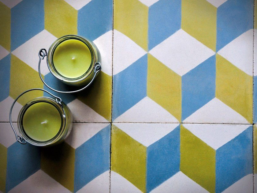 Cement wall tiles / flooring GEO_UN_04 by enticdesigns