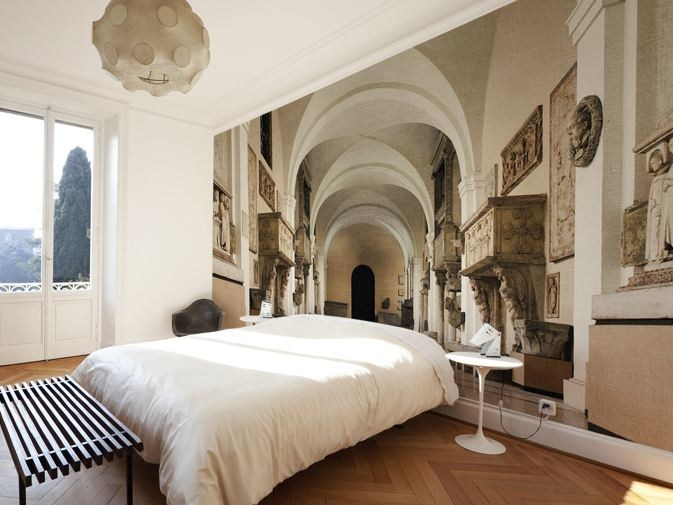 carta da parati trompe l 39 oeil in vinile civitas glamora. Black Bedroom Furniture Sets. Home Design Ideas