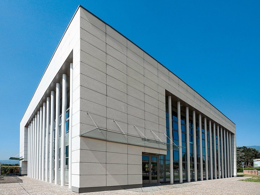 Ventilated walls tiles in porcelain gres Ventilated facade by DSG Ceramiche
