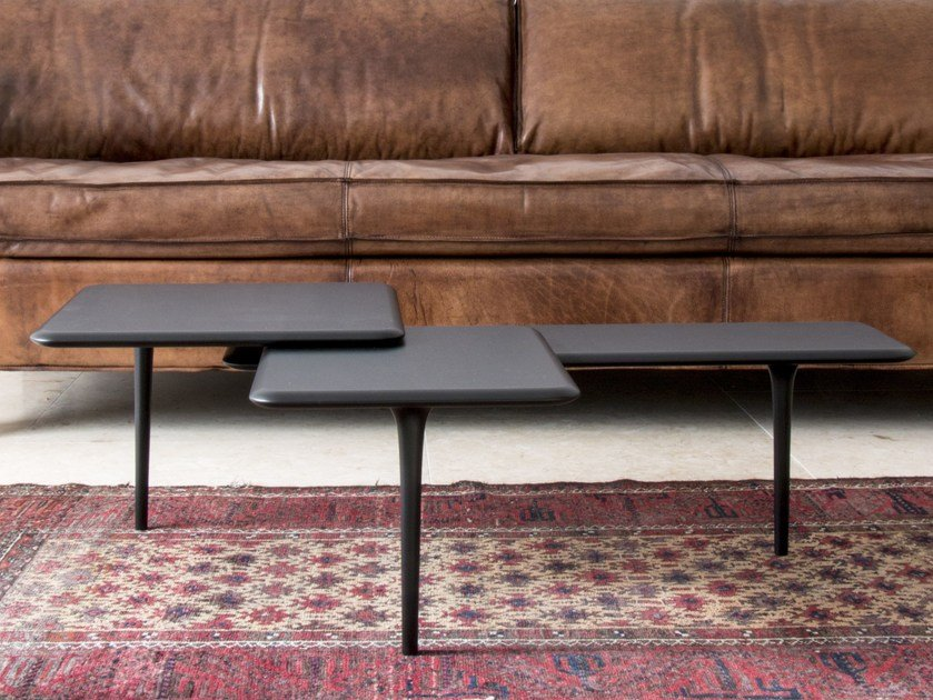 Low lacquered wooden coffee table TRI by Branca Lisboa
