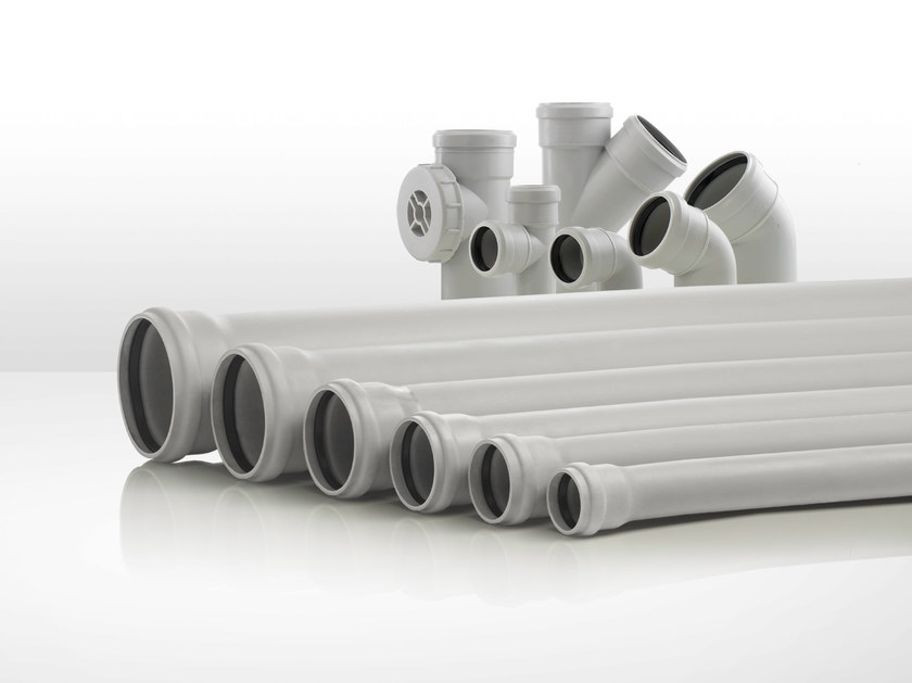 Soundproof waste and drainage system SILERE by Valsir