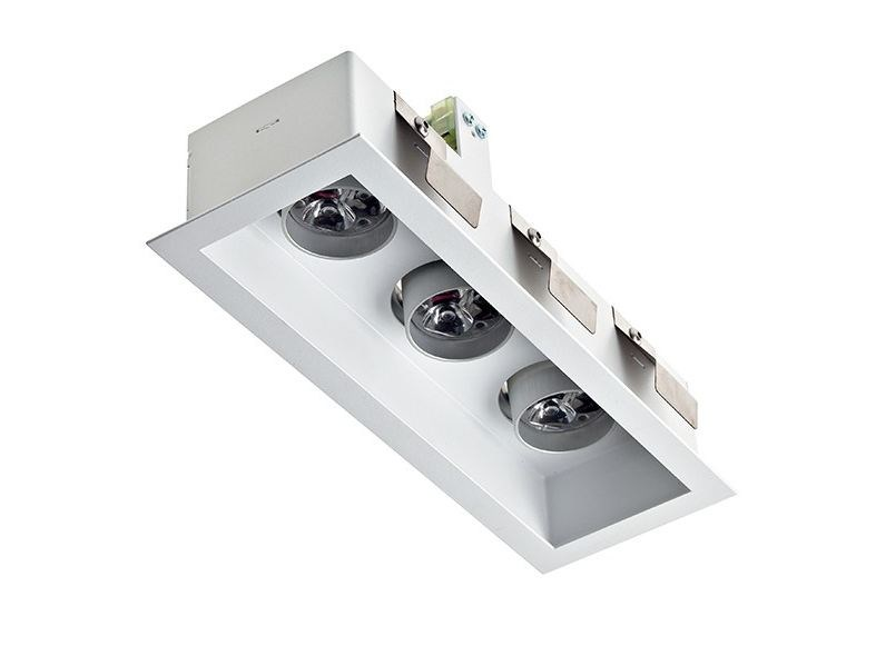 LED multiple recessed spotlight Quad 5.3 by L&L Luce&Light