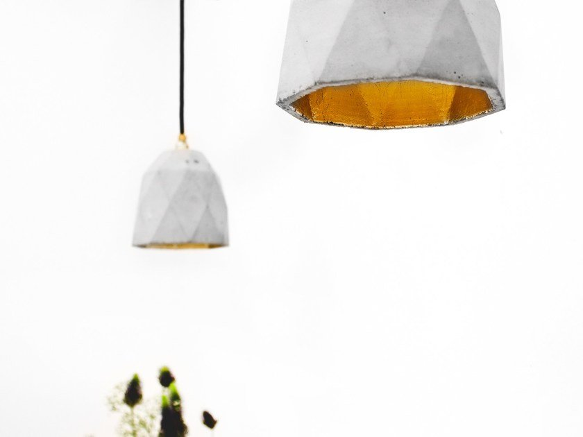 Gold leaf pendant lamp [T1] by GANTlights