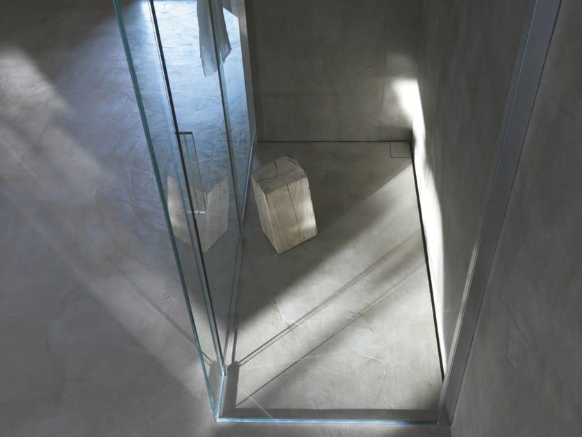 Stainless steel shower channel OLIFILO BILATO by OLI