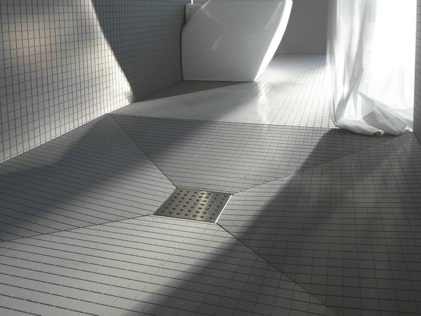 GRIGLIA QUADRO | Scarico per doccia in acciaio satinato