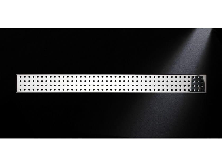 Glossy steel shower channel GRIGLIA TONDO 770 | Glossy steel shower channel by OLI