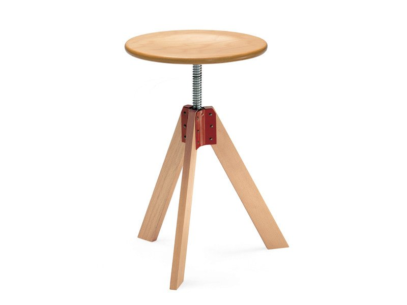 Height-adjustable swivel stool GIOTTO by Zanotta