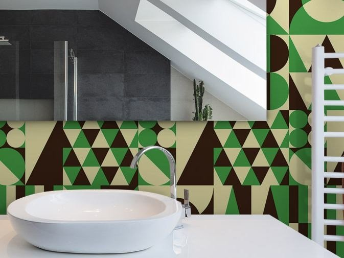 Motif vinyl wallpaper GEOMETRICAL PARTY by GLAMORA