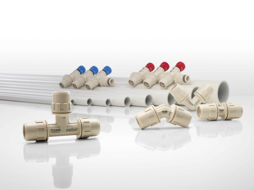 Full bore fittings in techno polymer PEXAL EASY by Valsir