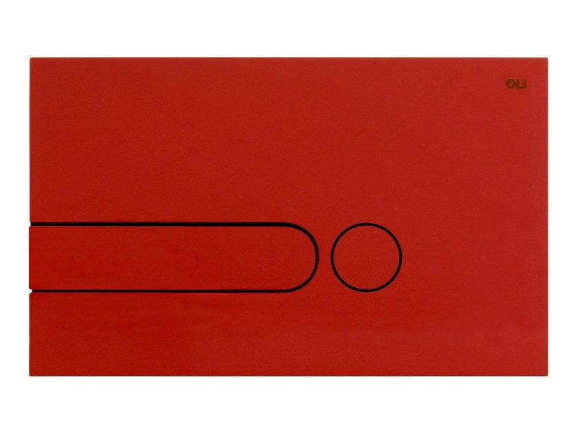 ABS flush plate iPLATE RED by OLI