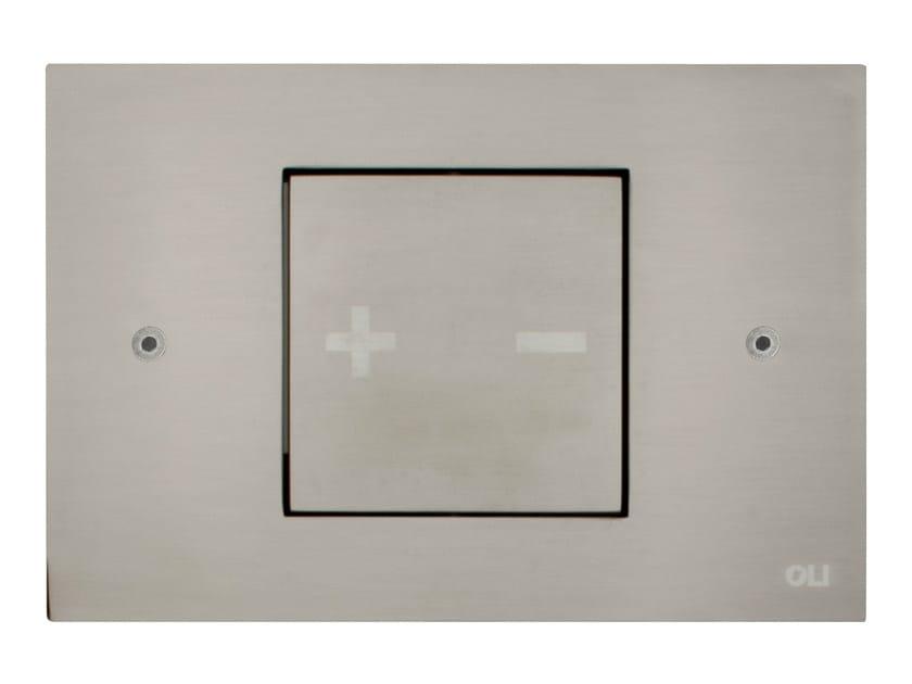 INO-X 01   Placca di comando per wc in acciaio satinato
