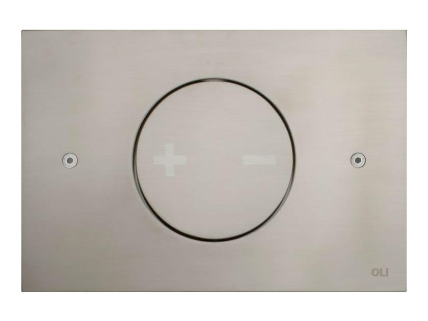 INO-X 02 | Placca di comando per wc in acciaio satinato